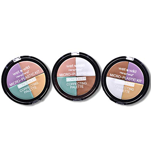 Delighted 3 Style 4 Colors Natural Concealer Foundation Base Face Cream Make Up Bronzer Long Lasting - A