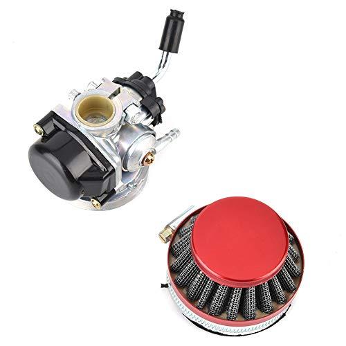 Qii lu Vergaser, Aluminiumlegierung Vergaser & Luftfilter Kit 49ccm 50ccm 80ccm Passend für 37ccm 50ccm 80ccm 2-Takt Motorfahrrad