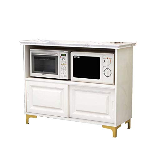 Marble kabinet Planken Koken Tabel Multifunctionele groente snijden Table Keuken Storage Dressoir Kast Stove Storage,60 * 40 * 80cm