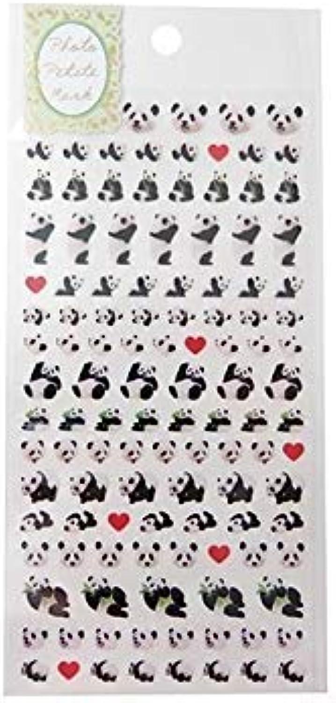 Kawaii Mini Heart Panda Animal Stickers from Japan