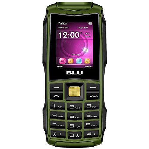 BLU Flash F010 32MB Unlocked GSM Dual-SIM Phone w/Dual 1W Super Flashlight - Military Green