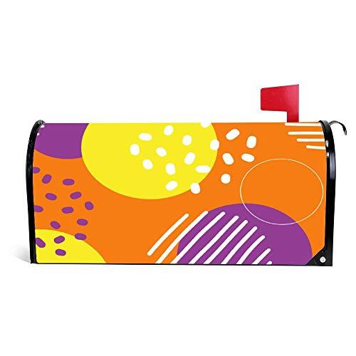 Odeletqweenry Mailbox cover, 21 x 18 inch, cartoon pink design, wilde life kunst, tuindecoratie, waterdichte canvas, standaard magnetische brievenbus cover 21