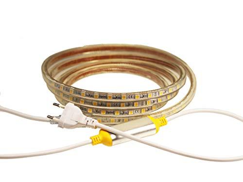 LED Streifen Warmweiß 20m Extra Hell+ 230V - 1200 LEDs - Dimmbar - IP68