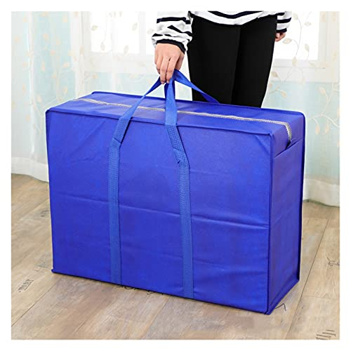 3 pcs Storage Bag Moisture-proof Packing Bag Closet Sweater Organizer Clothes Storage Travel Luggage Waterproof Tote (Color : Blue, Size : XL 78x55x25CM)