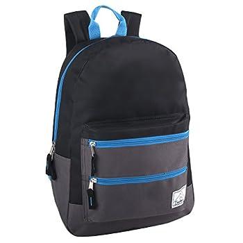 Multi-Color Back Pack with Adjustable Padded Shoulder  Black