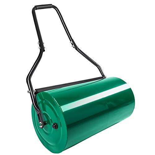 TecTake Rullo per Giardino compressore 60cm in Metallo | Larghezza Rullo: 60 cm | Ø Rullo: 31 cm | capacità di riempimento (Rullo): ca. 50 L