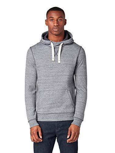 TOM TAILOR Herren Strick & Sweatshirts Hoodie in Melange-Optik Navy Blue Multi Melange,XL