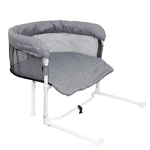 Close2Me c2m-high Beistellbett für Haustiere bis max. 10 kg passend an Möbel mit 22-26 cm hohem Polster/Matratze, Einheitsgröße, grau, 4.98 kg