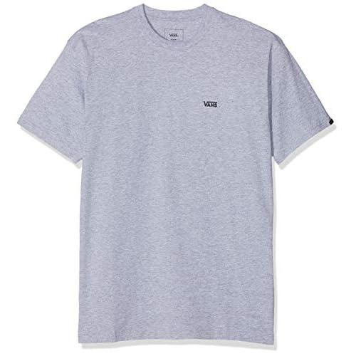 Vans Left Chest Logo Tee T-Shirt Uomo, Grigio (Athletic Heather), Medium (93 - 102 cm)