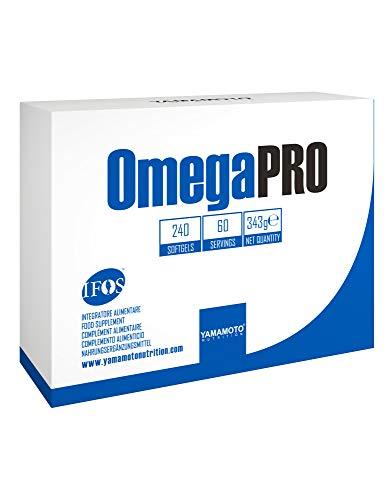 Yamamoto Nutrition OmegaPRO integratore alimentare omega 3 5 stelle IFOS a base di olio pesce concentrato 240 softgel