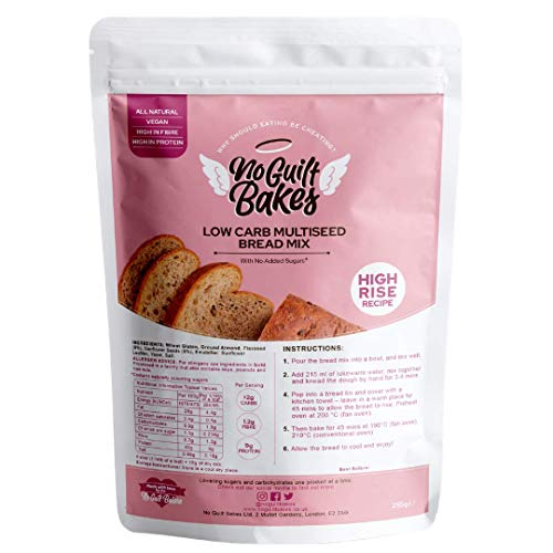 No Guilt Bakes Multiseed Low Carb Bread Mix - High Protein, No Sugar Added, Healthy Diabetic