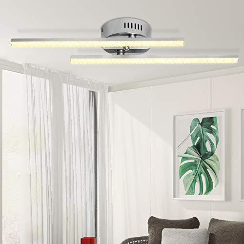 ALLOMN Luz de Techo LED, Lámpara Araña Lámpara Techo Diseño Cristal Moderno...