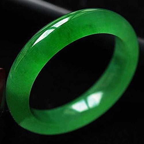 Bracelet Grün-Jade-Armband-Dame Ice Natürliche Jadeit Handgemachte poliert und poliert Schmuck,XL