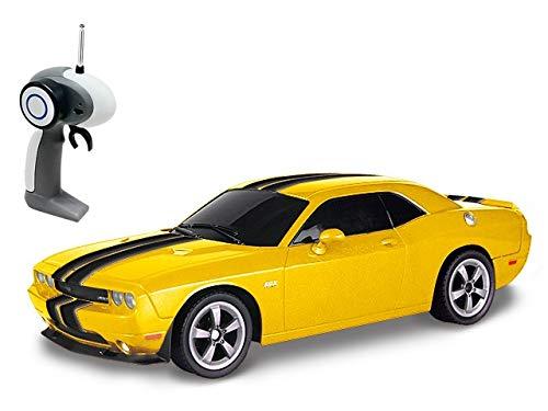 Dodge Challenger SRT8 - RC ferngesteuertes Lizenz-Fahrzeug im Original-Design, Modell-Maßstab 1:16, Ready-to-Drive Auto inkl. Fernsteuerung