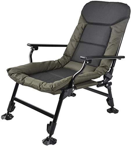 Woodtree Sillas Plegables portátiles, el Presidente de Las sillas Plegables de Pesca al Aire Libre sillas de Picnic en el pie reclinables sillones de Buda Jardín tumbonas Campo de Pesada