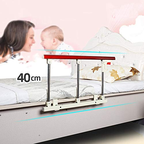 Bed Rail, Steel Bed Assistance Rail, Safety Support Handle Height Adjustable, Safety Assistance Devices Sides Rails for Home Care GUORRUI (Color : Red, Size : 70x40cm)