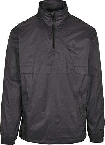 Urban Classics Stand Up Collar Pull Over Jacket Chaqueta, Negro, XXL para Hombre