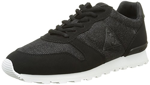 Le Coq Sportif Sigma W Glitter, Baskets Basses Femmes, Noir (Black), 41