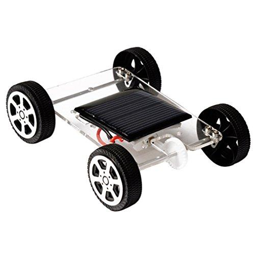 Fenteer Kinder Solarauto Bausatz Solar Spielzeug, Entwicklung Hand und Augen Koordination