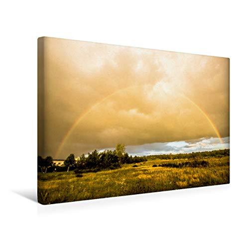 Premium Textil lienzo 45 cm x 30 cm horizontal, arco iris, cuadro sobre bastidor, imagen sobre lienzo auténtico, impresión sobre lienzo: Ehemaliger Exerzierplatz (CALVENDO Orte);CALVENDO Orte