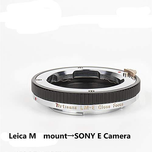 7artisans LM-E ズームアップ カメラレンズマウントアダプター ライカ Mマウント→ソニーEカメラ Leica M mount→SONY E Camera A7R4/R3/M3 電子アダプター アダプターリング