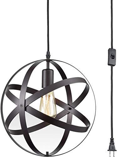 LSLRY Plafonnier rétro, Lustre en Terre Rustique Loft Lampe Vintage pour Plafond (Classe énergie A) (Ampoule Non Inclus)