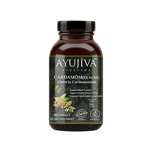 AYUJIVA - Cardamom (Elaichi) Dietary Supplement -60 Veg Capsules…