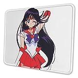 Sailor Mars - Alfombrilla de ratón antideslizante para juegos de moda, rápida y precisa para el hogar y la oficina