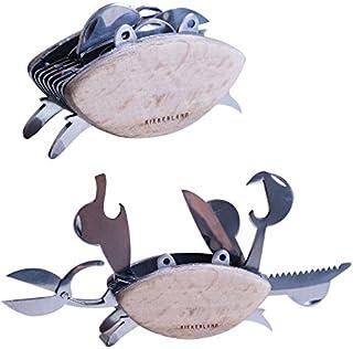 Kikkerland CD114 Beechwood Crab Multi Tool, Stainless Steel