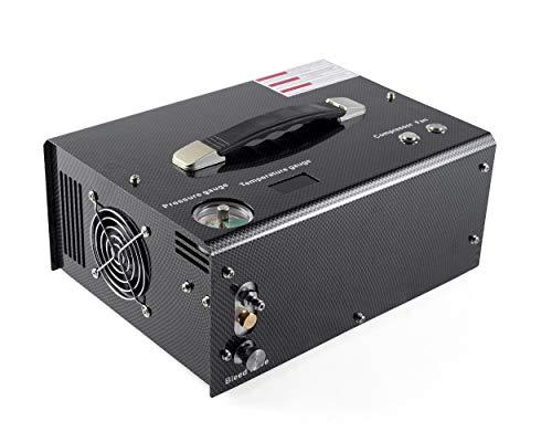 Carbon fiber color Auto stop built-in 110v power converter 12v pcp air compressor pcp compressor 4500psi paintball HPA compressor