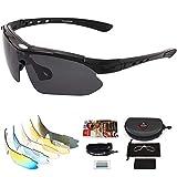 arteesol Gafas de Sol Polarizadas UV400 con 5 Lentes Intercambiables para Ciclismo Bicicleta MTB, gafas ciclismo...