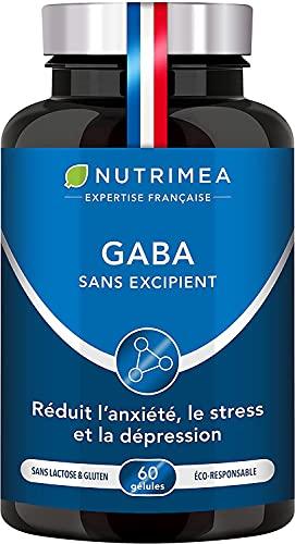 GABA 750 mg/j Sans Excipient | Anti Stress & Anxiété, Calme et Sérénité, Sommeil Réparateur |...