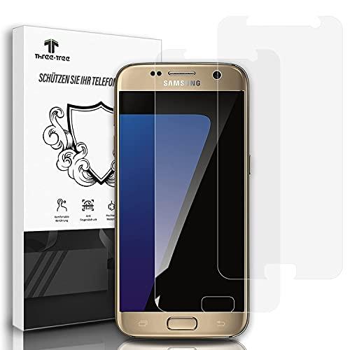 Panzerglas Schutzfolie [2 Stück] für Samsung Galaxy S7, 9H Festigkeitgrad Anti-Kratzen, Einfache Installation Blasenfrei HD Panzerglasfolie für S7