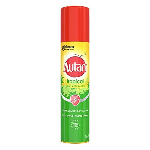 Autan Tropical Spray Insetto Repellente e Antizanzare Tigre, Comuni e Tropicali, 100ml