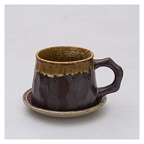 YUANLIN porzellantasse Japanische handgefertigte Retro-Kaffeetassen und Untertassen Set grobe Keramik-Nachmittag Tee Set Kaffeetassen und Keramikbecher porzellantasse Bone China