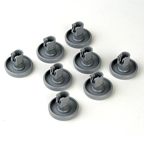 8 Korbrollen Unterkorb unten Rollen Räder Spülmaschine Geschirrspüler Ersatz für Aeg Electrolux Faforit E5028696500-4, 5028696400-7
