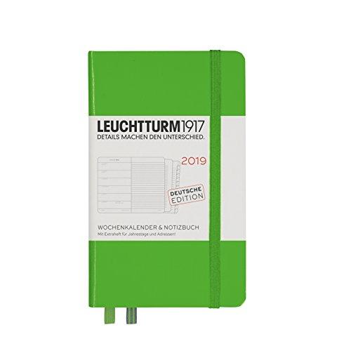 Leuchtturm1917 Weekkalender en notitieboek 2019 Pocket (A6) fresh green