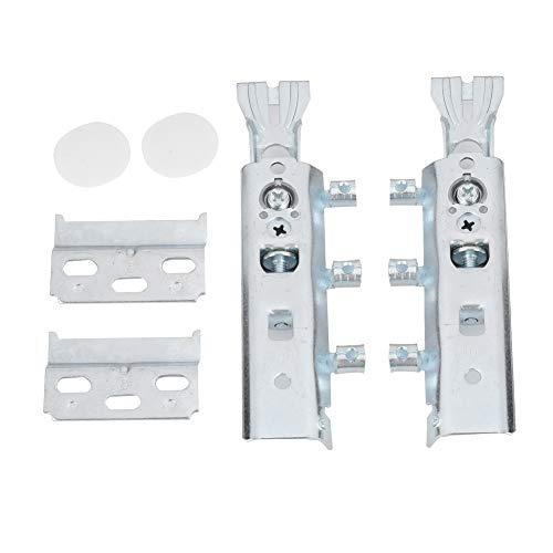 2 juegos de riel de suspensión para armario, armario oculto, herrajes para colgar pesados ajustables de 150 kg, soportes de montaje en pared para cuadros, espejos, pizarras blancas o cabeceros