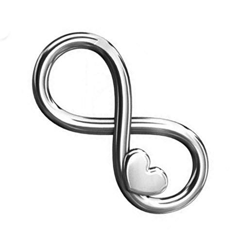 My-Bead 1 pezzo connettore ciondolo Infinito argento 925 carrier cuore 16mm per bracciali e collane DIY