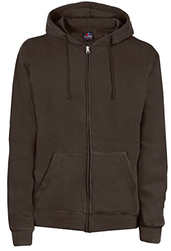 SUMG Apparel Unisex Kapuzenjacke Kapuzen Sweat-Jacke 'Basic Hooded Zipper' (S, Schoko braun)