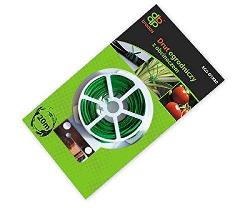 Bradas Blf25 Tyd1 X 20 avec Cutter – 20 m Fil de Jardin – Vert, 10 x 5 x 3 cm