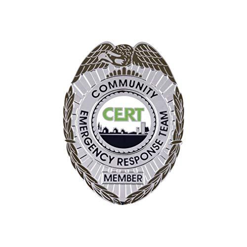 911 Market CERT Badge Silver Community Emergency Response Team Solid Metal US FEMA - G 42