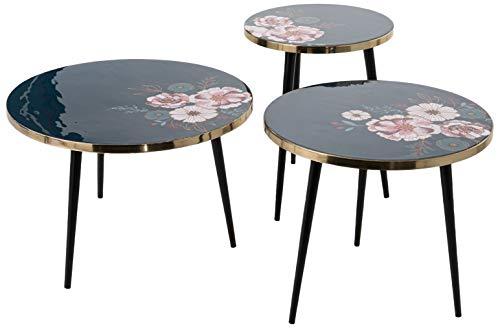 Amadeus Set de 3 Tables gigognes imprimé Floral
