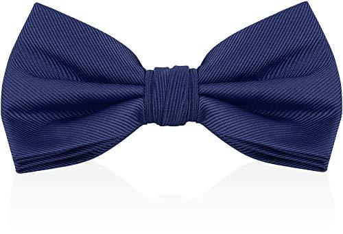 Pajaritas para hombre, diseño de Luther Pike Seattle para hombre, corbata de moño de color sólido, Azul marino, Talla única