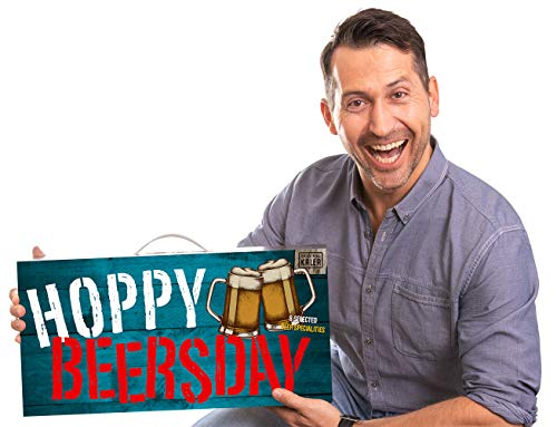 Hoppy Beersday | Beer-Tasting-Box | inkl. Grußkarte | Geschenkartikel mit Tragegriff | 8 Bier-Spezialitäten | Geburtstags -Geschenk für Männer (Hoppy Beersday 8x0,33l)