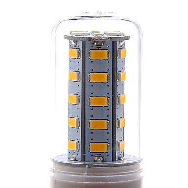 WELSUN Ampoule Maïs Blanc Chaud/Blanc Naturel/Blanc Froid T E14 / G9 / E26/E27 7 W 36 SMD 5730 700 LM AC 100-240 V (Connector : E14, Light Source Color : Blanc Chaud)