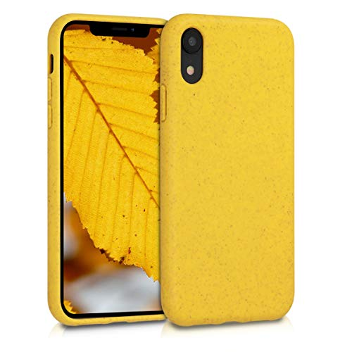 kalibri Case Compatible with Apple iPhone XR - Made of TPU and Eco-Friendly Natural Wheat Straw - Yellow