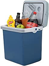 Knox Electric Cooler and Warmer for Car and Home with Automatic Locking Handle - 34 Quart (32 Liter) – Holds 30 Cans - Dual 110V AC House and 12V DC Vehicle Plugs