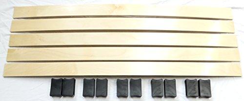 SET Härteverstellung für jedes Lattenrost (10 Schieber & 5 Federholzleisten in Wunschlänge) (8 x 35 mm)