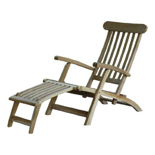 Ambientehome Ambientehome Landu Deckchair Sonnenliege Liege Gartenliege massiv